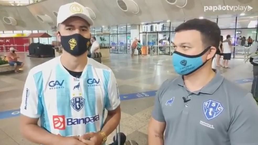 Tcharlles desembarcou em Belém na madrugada desta quinta-feira — Foto: Reprodução/PapãoTV