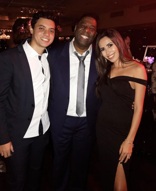 Dennis, Netinho e Maysa Carnielli (Foto: Reprodução)