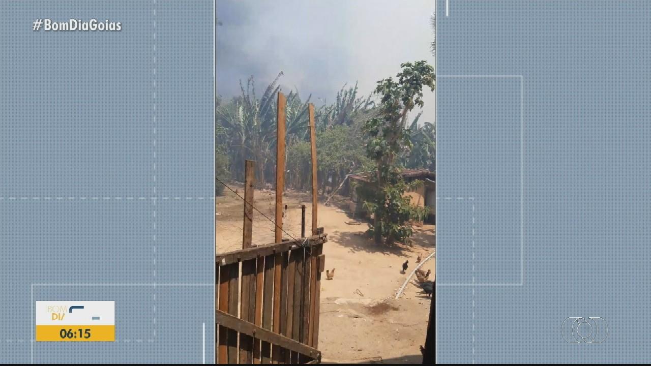 Homem é preso suspeito de incendiar área rural e causar falta d' água em Anápolis