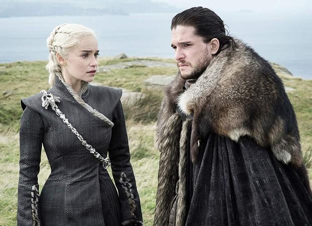 Emilia Clarke e Kit Harington em Game of Thrones (Foto: Divulgação/HBO)