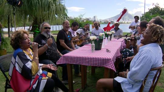 Bambas do samba dividem palco no rock in rio