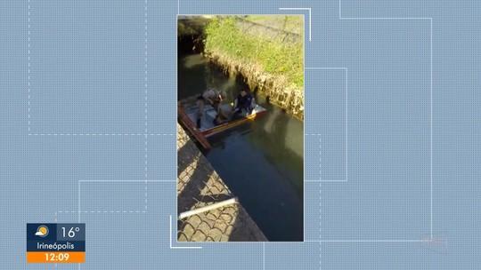Homem se joga no rio durante perseguição policial