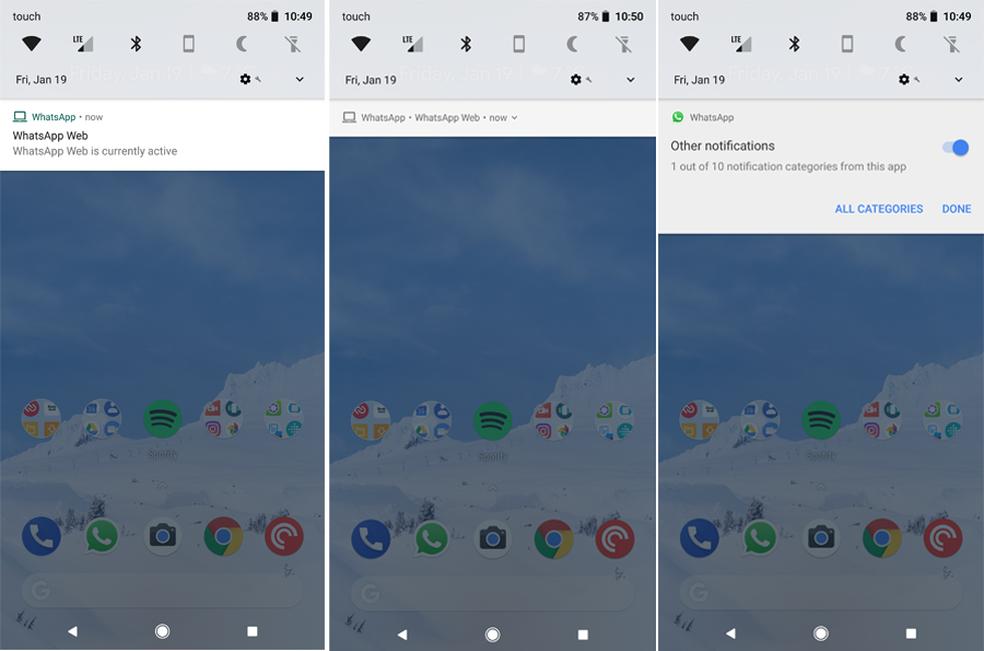 Prioridade baixa, média ou alta de notificações no WhatsApp (Foto: Reprodução/Android Police)