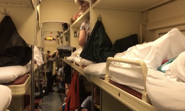 Terceira classe no trem para Saransk