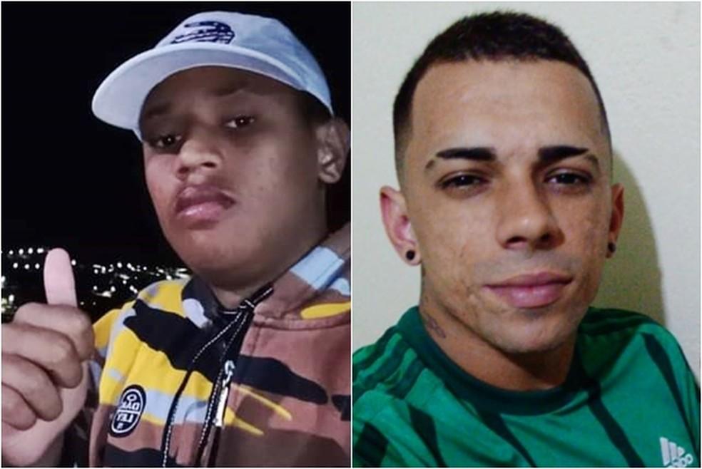 Luiz Eduardo Souza Neves Estevam, de 18 anos, e Rafale Lopes, de 25 anos em Poço Fundo (MG) — Foto: Reprodução/EPTV
