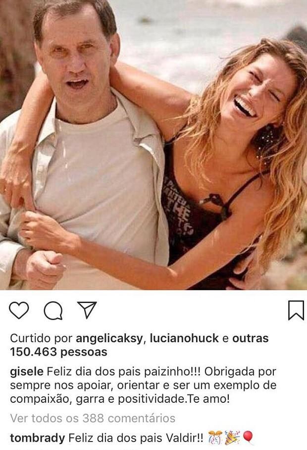 Post de Gisele Bündchen (Foto: Reprodução/Instagram)
