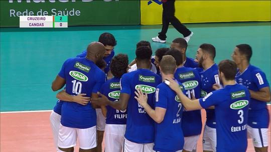 Cruzeiro derrota Canoas e fica a uma vitória da semifinal da Superliga