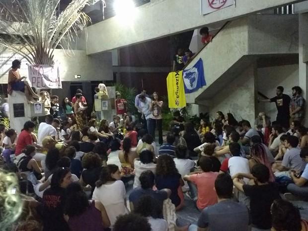 Universitários ocuparam prédio da reitoria da UFRN (Foto: DCE UFRN)
