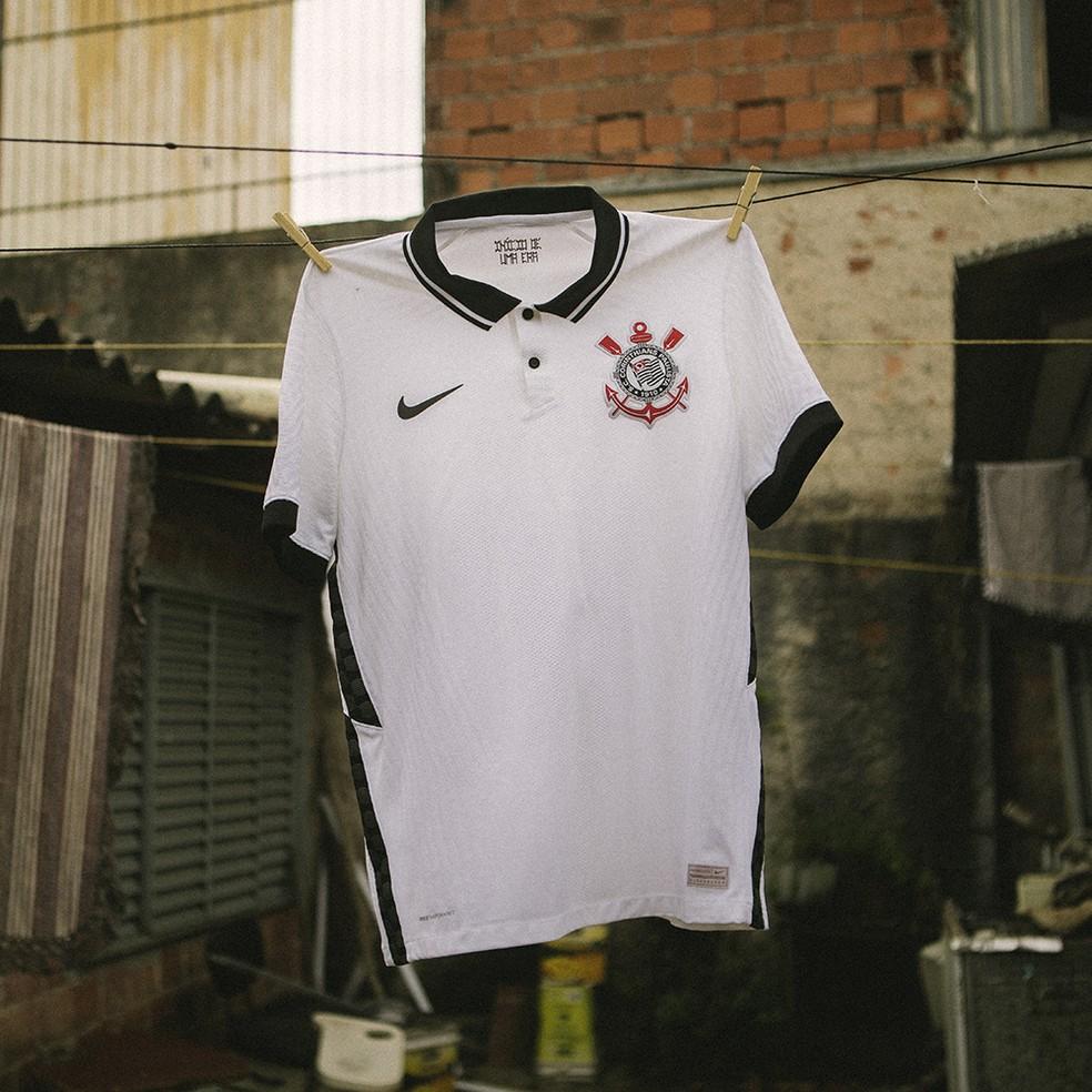 Nova camisa do Corinthians foi lançada neste domingo — Foto: Divulgação