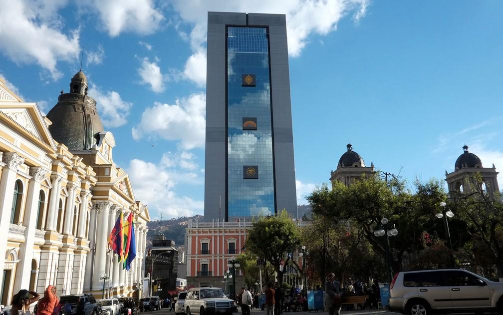 -  Vista do novo palácio presidencial da Bolívia, chamado de 'A Casa Grande do Povo', em La Paz, no dia de sua inauguração, quinta-feira  9   Foto: Reut