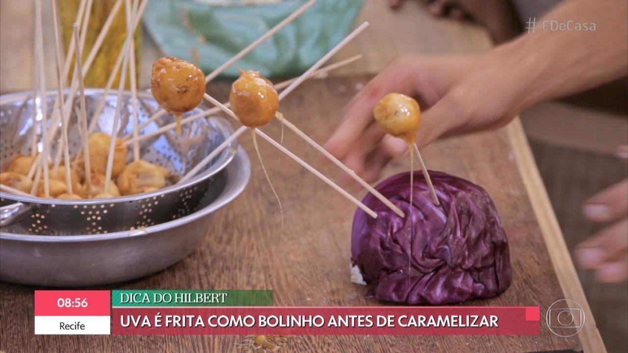 Aprenda a fazer uva caramelizada