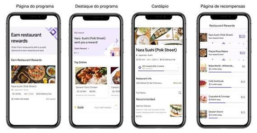 Programa de fidelidade do Uber Eats dará descontos para usuários mais assíduos — Foto: Divulgação/Uber Eats