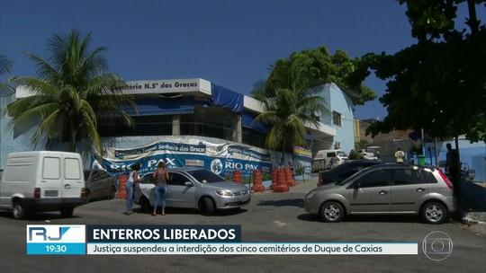 Justiça manda reabrir os cinco cemitérios interditados pela prefeitura de Duque de Caxias