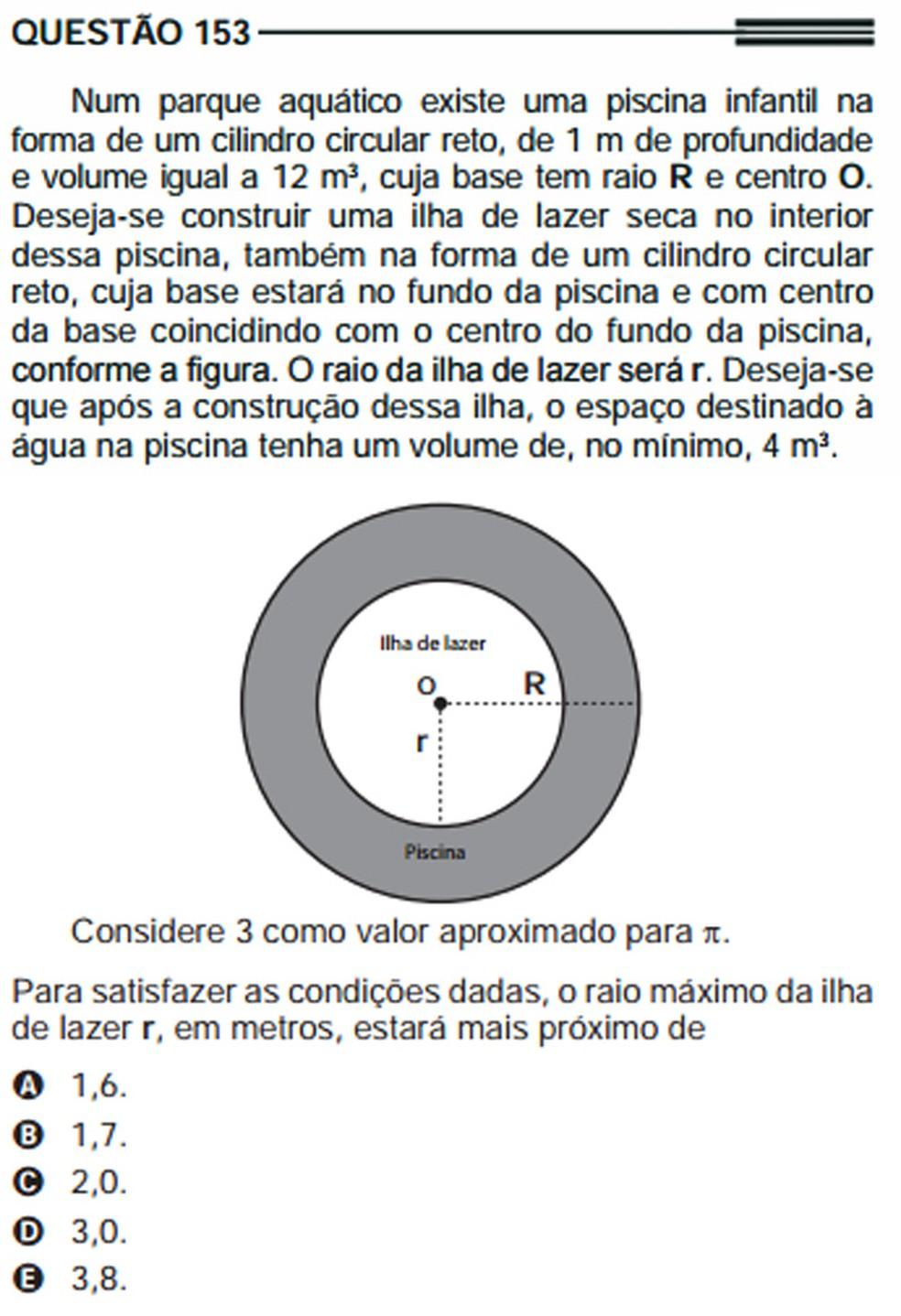Questão do Enem 2013 (prova cinza) (Foto: Reprodução)