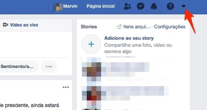 Acesse as opções disponíves para uma conta do Facebook (Foto: Reprodução/Marvin Costa)