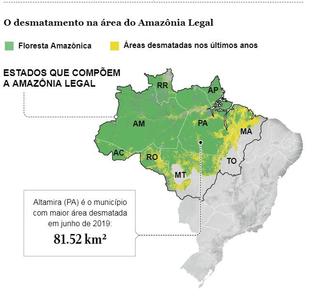 info-desmatamento (Foto: Arte: reprodução jornal O GLOBO)