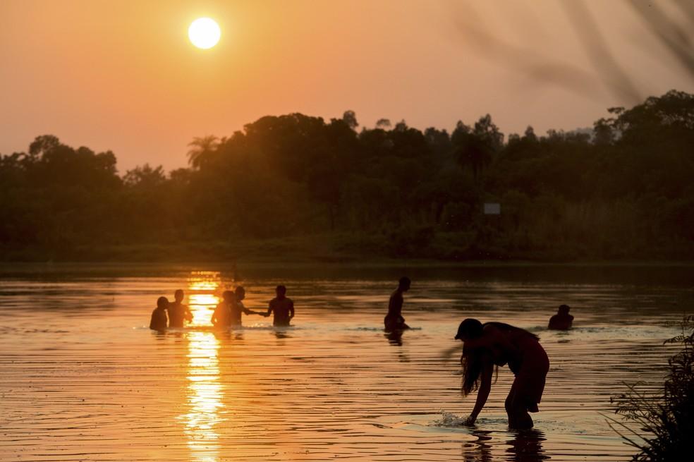 Povos indígenas do Brasil e de mais 23 países estão em Palmas para os JMPI (Foto: Marcelo Camargo/Agência Brasil)