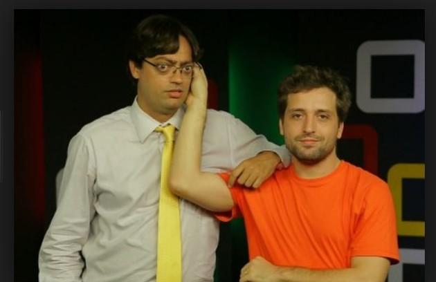 Gregório participou do 'Estranha mente' com Fernando Caruso: 'Não conseguia parar de rir. O Caruso é um palhaço genial, com um grande domínio da máscara facial e do humor nonsense' (Foto: Reprodução)