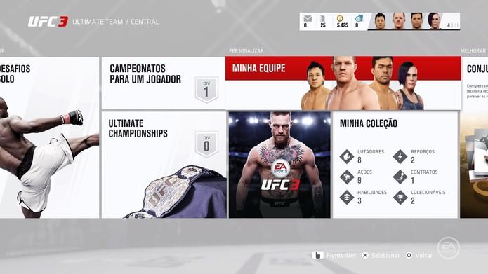 O Ultimate Team do UFC (Foto: Divulgação)