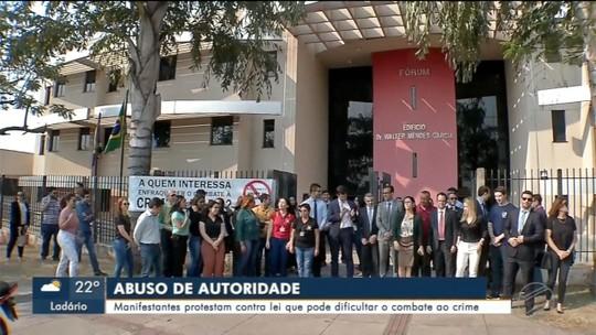 Entidades protestam contra projeto de lei do abuso de autoridade