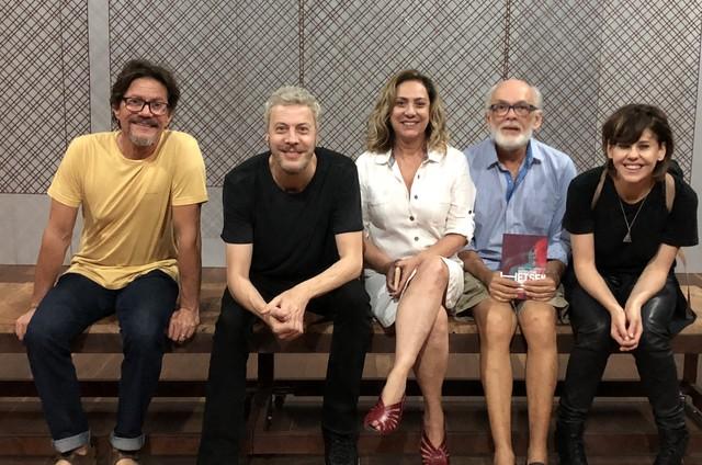 Antonio Gonzalez, Guilherme Weber, Eliane Giardini, Everaldo Pontes e Bárbara Paz (Foto: Valencia Losada)