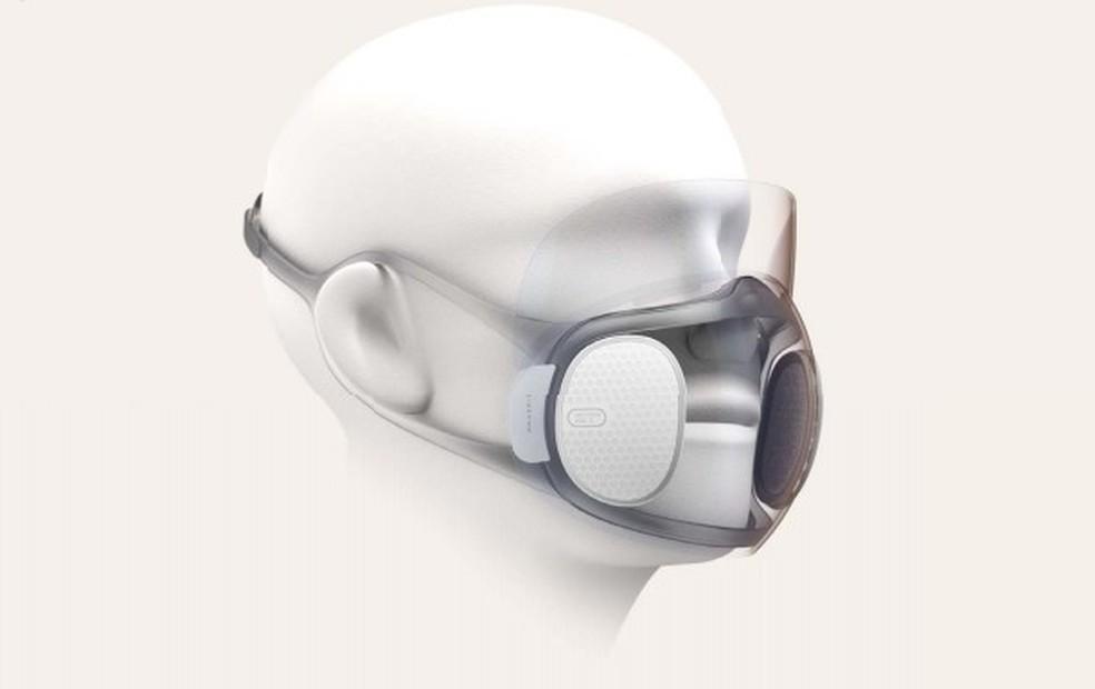 Visor transparente da máscara permite o reconhecimento facial de celulares — Foto: Reprodução/XDA Developers