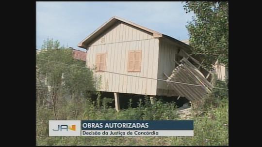 Justiça autoriza obras de contenção em área de Concórdia atingida por deslizamento