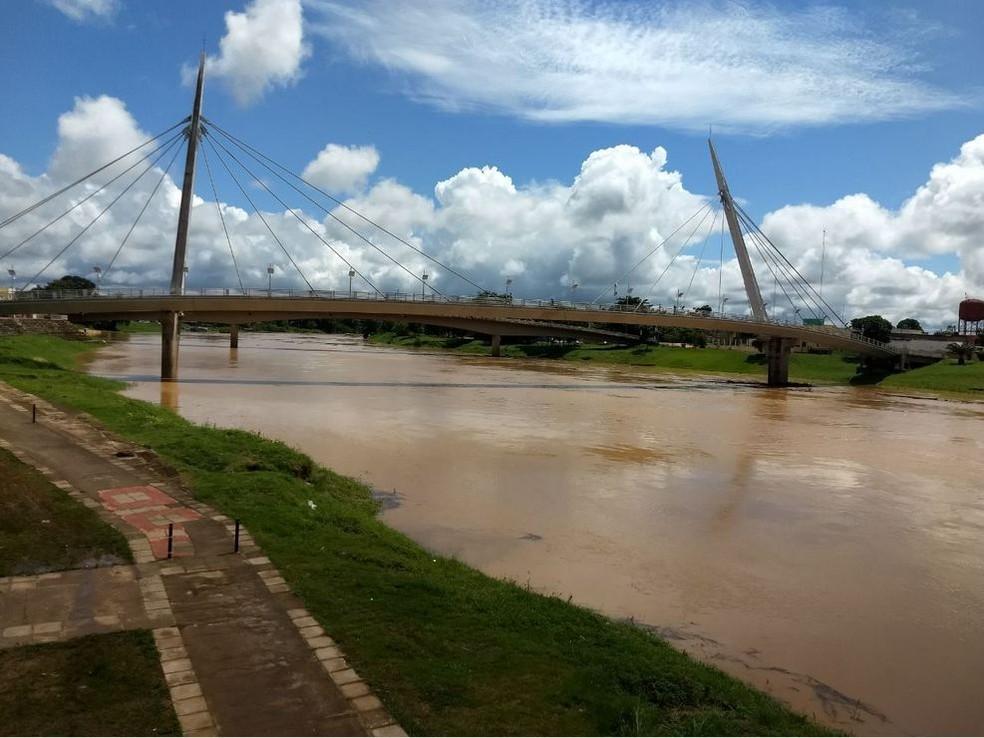 Rio Acre ultrapassa 12 metros e Defesa Civil inicia construção de 100 boxes (Foto: Aline Nascimento/G1)