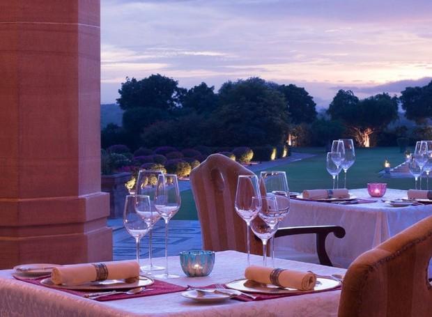 Os jardins do taj Umaid Bhawan ocupam mais de 60 mil metros quadrados (Foto: Taj Hotels/ Reprodução)