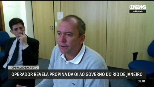 Operador revela propina da Oi ao governo do Rio de Janeiro