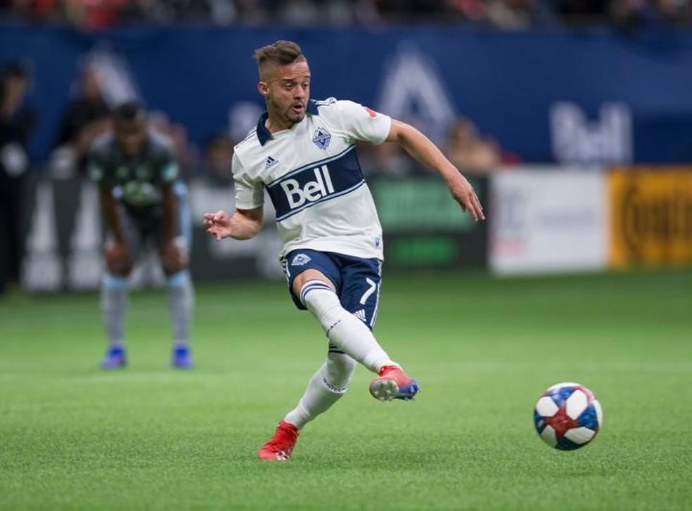 Lucas Venuto, atacante do Vancouver Whitecaps, reforçará o Santos — Foto: Divulgação/MLS