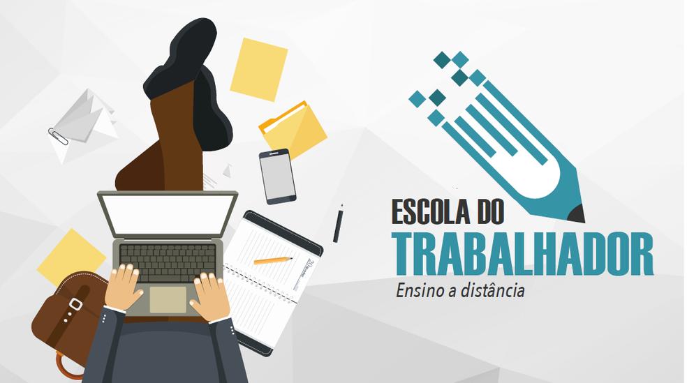 Escola do Trabalhador oferece cursos diversos de graça online (Foto: Divulgação/Escola do Trabalhador)