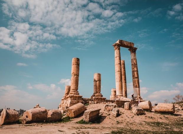 Templo de Hércules em Amã, capital da Jordânia (Foto: Jose Aragones/Divulgação)