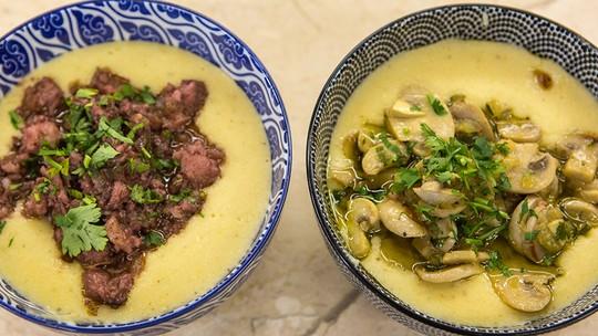 Polenta de Fubá Branco com Ragus do Chef Roberto Ravioli
