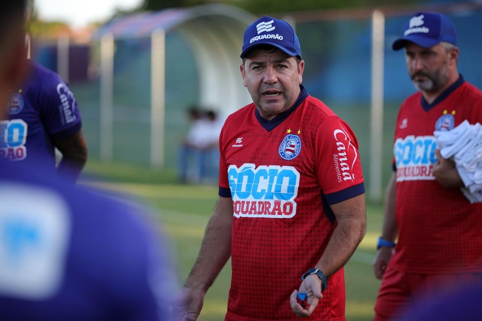 Enderson Moreira comandou o Bahia até o fim de março — Foto: Felipe Oliveira/Divulgação/EC Bahia