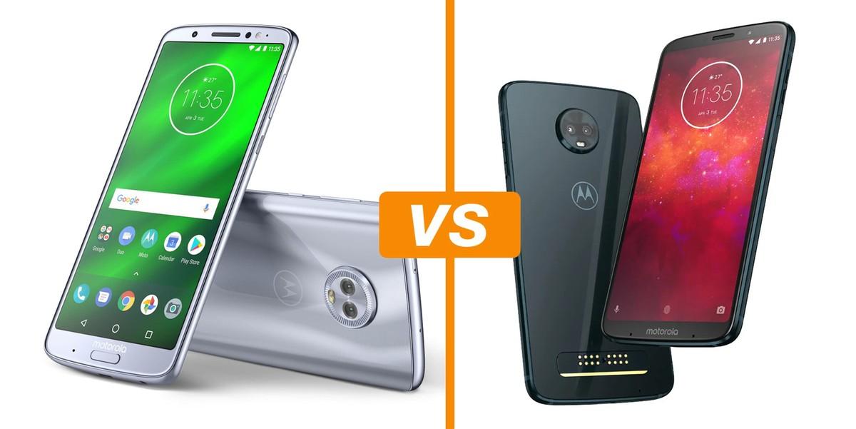 73f1192b9 Comparativo Moto G6 Plus vs Moto Z3 Play  conheça os celulares Motorola