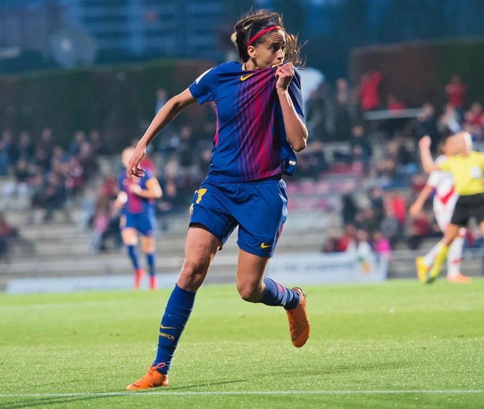 Andressa Alves em ação pelo Barcelona — Foto: Instagram