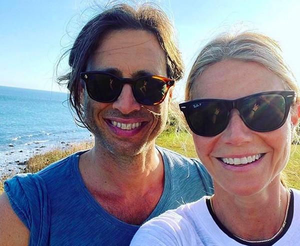 A atriz Gwyneth Paltrow com o marido, o produtor Brad Falachuk (Foto: Instagram)