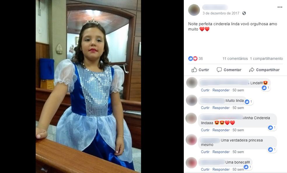 Menina Nicoly Stephanie, de 9 anos, sofreu o ataque após pisar em um escorpião no quintal de sua casa em Bariri — Foto: Reprodução/Facebook