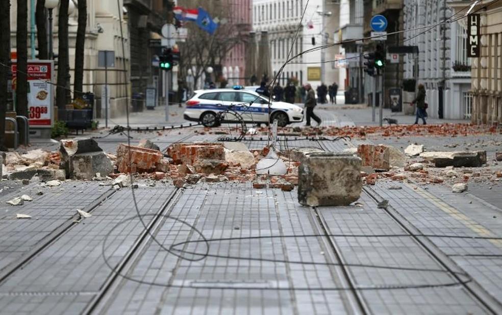 Não há informação de feridos em Zagreb — Foto: Antonio Bronic/Reuters