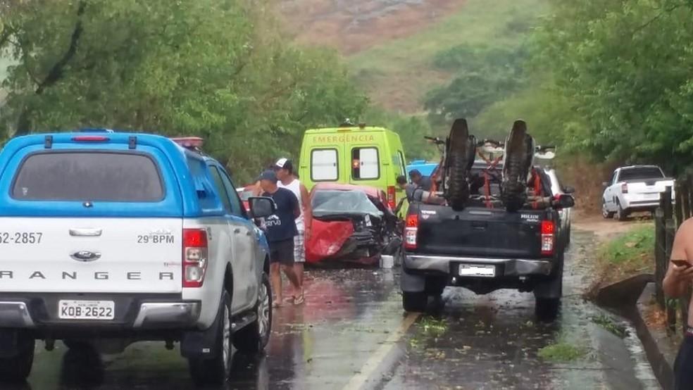 Os feridos foram encaminhados para unidades de saúde de Natividade e Itaperuna — Foto: Divulgação/Polícia Militar