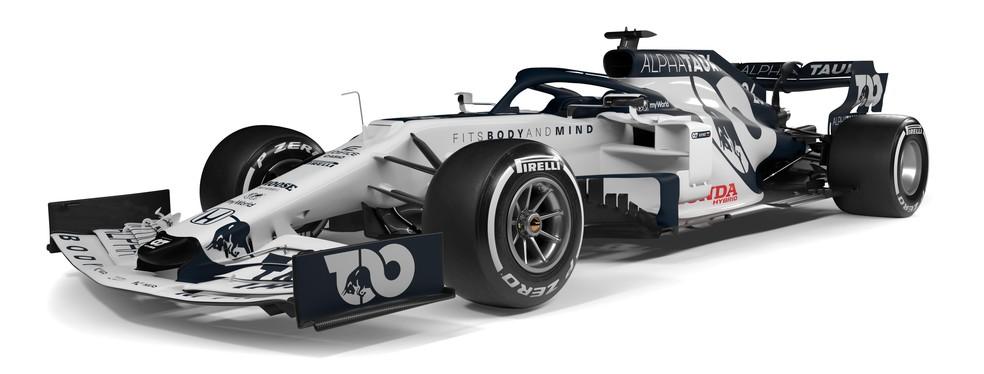 Carro da Alpha Tauri para a temporada 2020 da Fórmula 1 — Foto: Divulgação