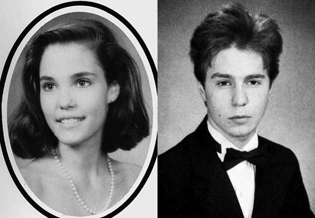 Leslie Bibb e Sam Rockwell na adolescência (Foto: Reprodução)