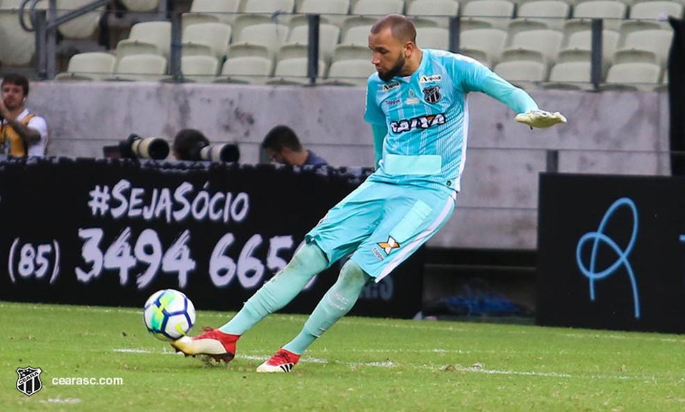 Everson, goleiro do Ceará, recebeu proposta do Santos — Foto: Mauro Jefferson/Divulgação/Cearasc.com