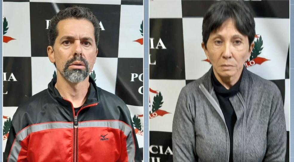 Ecio Pilli Junior e Marina Okido foram presos pela polícia de Vinhedo — Foto: Reprodução/EPTV