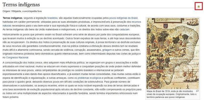 Melhores páginas da Wikipédia são classificadas como Conteúdo destacado (Foto: Reprodução/Raquel Freire)