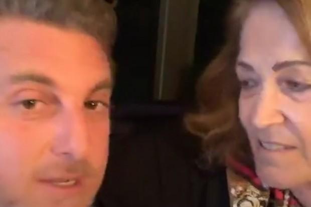 Luciano Huck e a sogra Angelina (Foto: Reprodução Instagram)
