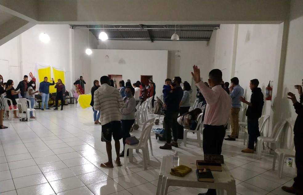 Vigilância Sanitária de Franca (SP) flagra culto sem autorização na quarentena — Foto: Divulgação / Vigilância Sanitária de Franca