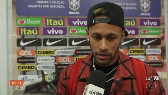 Neymar sente dor na virilha durante jogo entre Brasil e Camarões