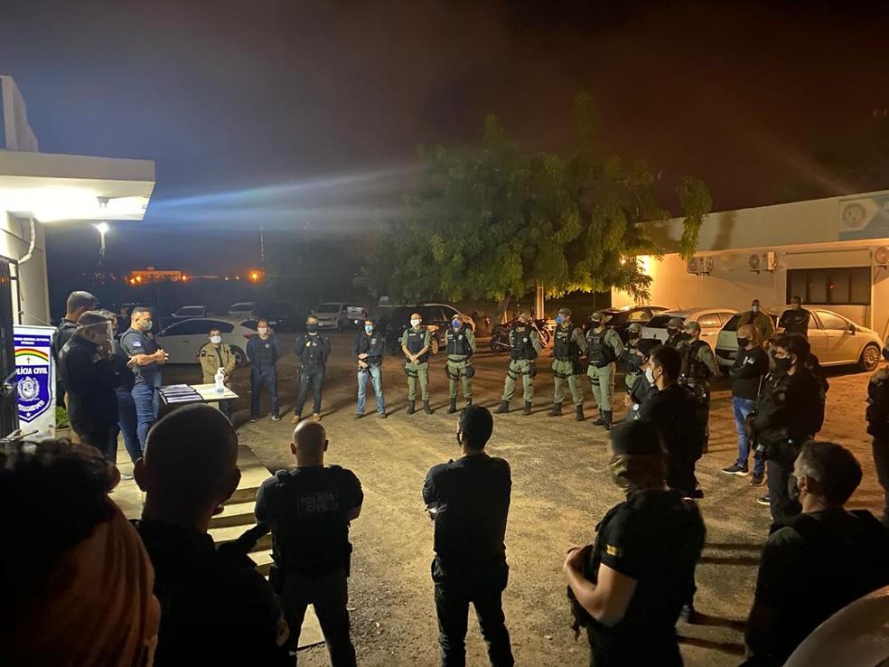 Operação empregou 50 policiais civis, entre delegados, agentes e escrivães. — Foto: Divulgação/ Polícia Civil de Pernambuco
